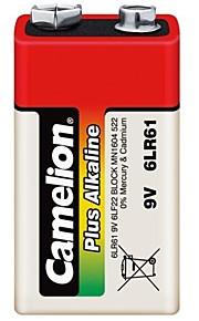 camelion plus alkaline 9V batterij in plastic doos van 6 stuks