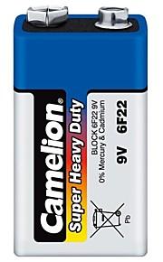 camelion super heavy duty 9V batterij in plastic doos van 6 stuks