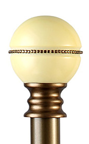 28 mm de diámetro moderno champán hierro minimalista de una sola varilla