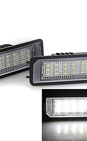 2 stuks witte 18 geleid aantal kentekenverlichting lamp voor vw golf 5 6