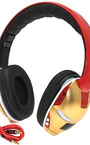 hi-fi ranura para tarjeta de hombre de hierro de 3,5 mm tf bajo plegable de música estéreo de auriculares bluetooth inalámbricos con micrófono tf fm