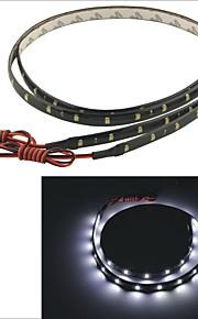 carking ™ 3528-30smd-60cm waterdicht auto decoratieve lamp strip-zwart (2 stuks)