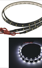 Carking™ 3528-30SMD-60CM Waterproof Car Decorative Lamp Strip-Black(2PCS)
