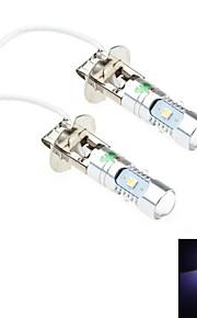 2pcs h3 25w 5x3030 osram SMD 2200lm 6500K luz blanca fría condujo un coche de faros / luces antiniebla (cc 12-24)