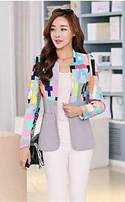 ckj ™ Frauen Stehkragen Druck arbeiten dünnen Mantel (weitere Farben)