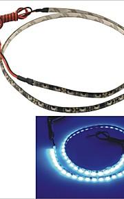 carking ™ 335-60smd-60cm waterdichte flexibele auto decoratieve kant glans strip licht (12v)