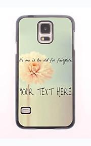 パーソナライズされた携帯電話のケース - サムスンギャラクシーS5 i9600用のフラワーデザインメタルケース