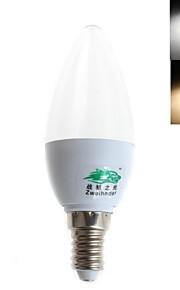 E14 - 3 W- C - Stearinlys Pærer (Warm White/Kald Hvit , Dekorativ) 280 lm- AC 85-265