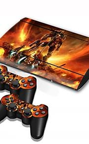 PS3 Slim 4000 consola cover etiqueta protetora da pele controlador de pele autocolante