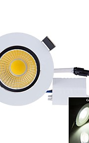 SENCART 3 W 1PCS COB 300-350 LM Natural White Recessed Retrofit Decorative Ceiling Lights AC 85-265 V