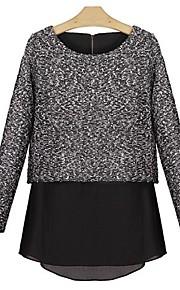Women's Casual Long Sleeve Chiffon/Cotton Medium