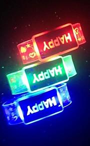 glücklich führte blinkendes Armband Design Kunststoff Partei LED-Licht-Stick