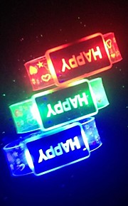 Glowing Bracelet Wrist Band LED Flashing Light Wrist Ring Fashion Running Gear Glowing Armband Kids Gift Birthday