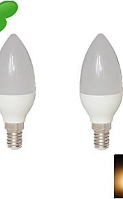 2 stk. DUXLITE E14 8W 15 SMD 2835 680 LM Varm hvit C35 LED-lysestakepærer AC 85-265 V
