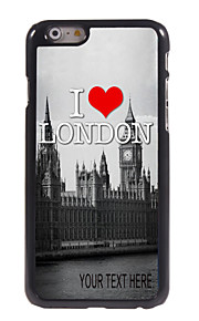 "Personalized Case I Love London Pattern  Metal Case for iPhone 6 (4.7"")"