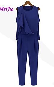 weimeijia® Frauen falbala Spleißen Falten Overalls