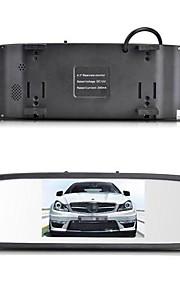 """12v 4 парковочные датчики 4.3 """"TFT LCD дисплей камеры видео автомобиль зеркало заднего вида обратной радиолокационную систему"""