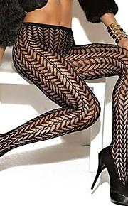 Frauen sexy gemusterten hohe Taille Strumpfhosen