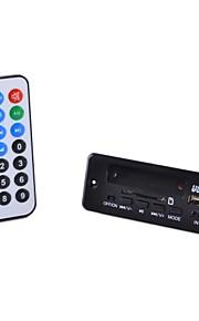 Bluetooth 3.0 stereo MP3 / WMA / WAV audio dekoder bord modul m / FM / fjernbetjening (sort)
