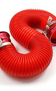 filtro de aire del tubo universal, tirol tubo ajustable sistema de inyección de aire frío ingesta kit rojo 76mm