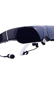 GLOWOR Android 4.4 Smart Video Glasses 98inch 3D HMD Goggles with Build-in WIFI and 8GB Memory Google Style