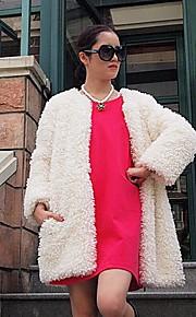 fourrure mode manteau à manches longues col partie en fausse fourrure / manteau occasionnel