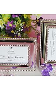 tabellen center vakkert beaded fotoramme / sted holder bord deocrations (sølv)