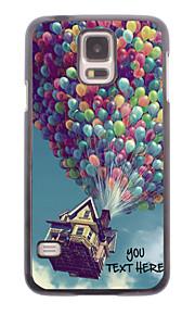 personlig telefon sag - ballon design metal etui til Samsung Galaxy s5 i9600