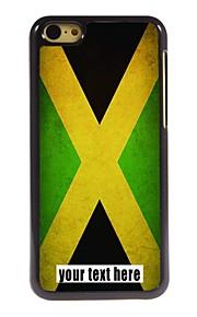 gepersonaliseerd geval vlag van Jamaica ontwerp metalen behuizing voor de iPhone 5c