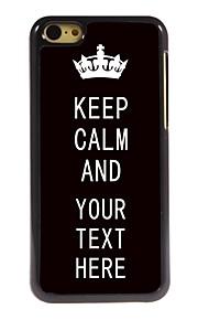 personalisierte Fall Schwarzes behalten Ruhe Design Metallkasten für iphone 5c
