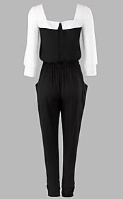 WeiMeiJia® Women's Plus Size Chiffon Splicing Bodycon Jumpsuits