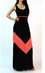 TIANHE Stripe vest women dress show thin render long mop the floor skirt SV002513