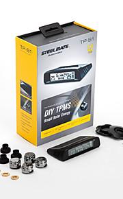 Steelmate diy TPMS tp-s1 zonne-energie oplaadbare lcd draadloze display met externe sensor controle van de bandenspanning