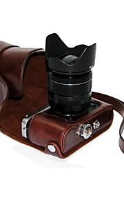 dengpin pu leer olie huid afneembare camera cover case tas voor Fujifilm X-e2 x-e1 (verschillende kleuren)