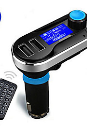 draadloze handsfree bluetooth carkit fm transmitter mp3-speler met dual 2.1a opladen via USB, ondersteuning usb / sd / aux-in