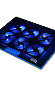 draagbare 15,6 inch laptop cooling koeler pad ultradunne notebook laptop koeling met 6 ventilatoren