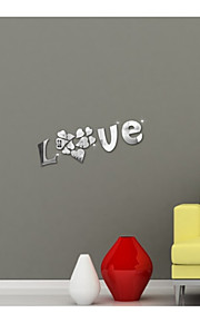 Mirror Wall Stickers Wall Decals, LOVE DIY  Mirror Acrylic Wall Stickers
