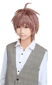 Angelaicos Men Dangan-Ronpa Kibou No Gakuen Boy Layered Short Light Brown Halloween Party Costume Cosplay Wig
