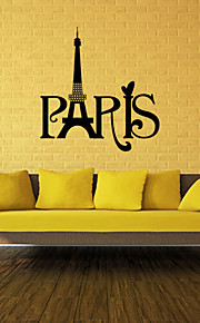 Wall Stickers Wall Decals, Style Paris Words PVC Wall Stickers