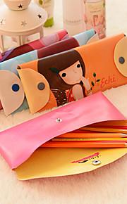 קלמר נערת חלומות קוריאני מרכיבים את ארנק תיק קוסמטיקה (צבע אקראי)