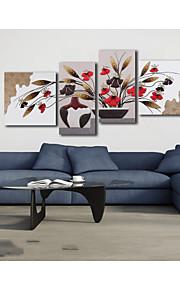 abstrakt / stilleben handgjorda 3d inramad konst beige ram vägg konst med PU läder
