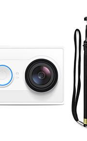 Xiaomi Xiaoyi 1080p 16MP CMOS sport kamera / monopod / Wi-Fi / bluetooth 4,0 - hvid (rejse kit)