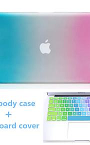 hoogwaardige gradiëntkleur harde full body case en TPU toetsenbord cover voor MacBook Air 13,3 inch