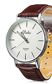 Unisex Analog Quarz-Armbanduhr mit PU Leder Band (verschiedene Farben)