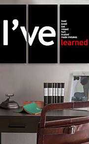 e-Home® sträckta canvas art engelska ordet dekoration målning uppsättning av 3