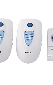 US Plug 110V Cordless Remote Wireless Digital Doorbell with Battery