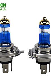 P43T h4 xencn 4300k 12v 60 / 55w de potencia faros de los coches luz de diamante de oro bulbos lámpara halógena filtro uv