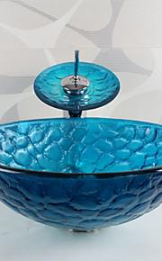 Conjunto de Pia de Banheiro - DE Vidro Temperado - Contemporâneo ( Vidro Temperado )