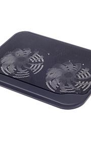 shunzhan sz280 førte blå bog super-quiet dual fanskare usb laptop køler