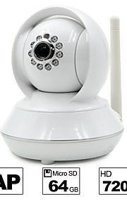 besteye®hd720p h.264 p2p wifi ip camera 1.0m pixels PTZ ir nachtzicht bedrade / wirless 64GB TF-kaart